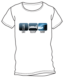 Eat, Sleep, Surf Shirt