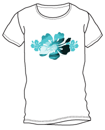 Hibiscus Surf Flower Shirt