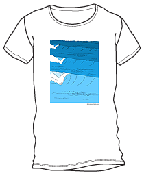 Waves Pencil Shirt