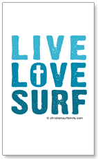 Live, Love, Surf sticker